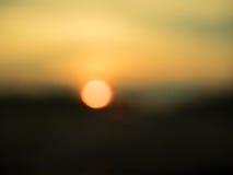 落日摘要  库存图片
