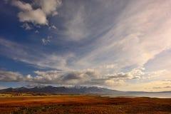 落日的西藏 免版税库存图片