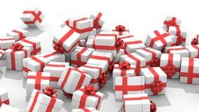 落的圣诞节礼物盒 库存例证