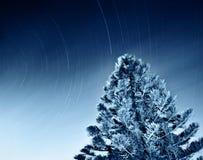 落的夜空星形 免版税库存照片