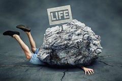 落的岩石 免版税库存图片