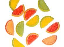 落的橘子果酱甜点 免版税库存照片