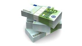 落的欧元(HD +阿尔法) 皇族释放例证