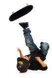 落的溜冰板者 免版税库存照片