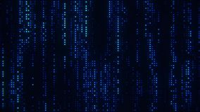 落的矩阵数字蓝色小点使行动背景成环 皇族释放例证