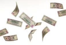 落的货币 免版税图库摄影