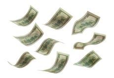 落的钞票 免版税库存图片