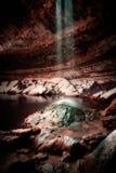 落的水哈密尔顿水池得克萨斯小山国家 免版税库存图片