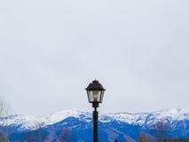 落矶山的灯 库存图片