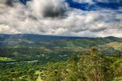 落矶山的风景在西班牙 库存图片