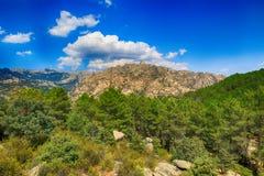 落矶山的风景在西班牙 免版税库存图片