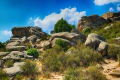 落矶山的风景在西班牙 免版税图库摄影