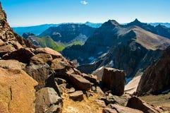 落矶山科罗拉多接合的岩石  免版税库存照片