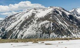 落矶山脉前面范围视图 免版税库存照片