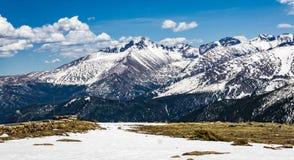 落矶山脉前面范围视图 免版税库存图片