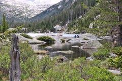 落矶山脉国家公园 库存图片