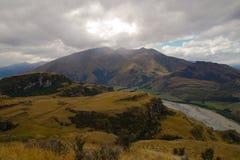 落矶山脉山顶, Wanaka,新西兰 库存图片