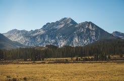 落矶山脉风景在爱达荷 免版税库存图片