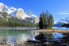 落矶山脉-加拿大 库存图片