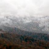 落矶山风景美好的高加索自然 库存图片