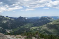 落矶山,科罗拉多风景概要 免版税库存图片