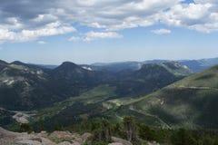 落矶山,科罗拉多风景概要 库存图片