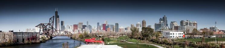 落芝加哥的 免版税库存照片