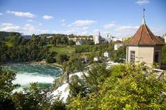 落莱茵河瑞士 免版税库存照片