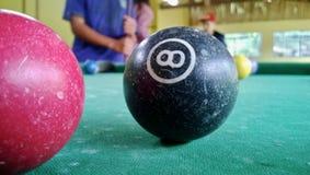 落袋撞球在巴西 免版税库存图片