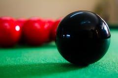 落袋撞球球 免版税库存图片