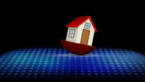 落除色度钥匙空间以外的红色式样房子 向量例证