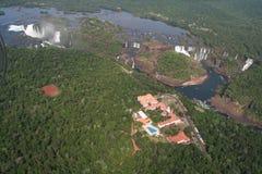 落iguazu水 库存图片