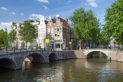 著名七座桥梁在阿姆斯特丹 库存图片