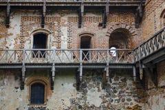著名中世纪城堡在特拉凯 库存照片