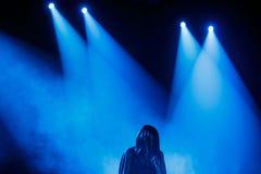 著名乌克兰歌手Jamala给了介绍她新的册页Podykh (呼吸)的一个音乐会 图库摄影