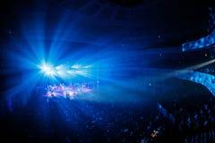 著名乌克兰歌手Jamala给了介绍她新的册页Podykh (呼吸)的一个音乐会 免版税库存照片