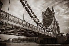 著名伦敦塔桥梁 免版税图库摄影