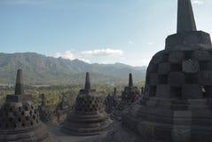 著名佛教寺庙在日惹,印度尼西亚 免版税库存图片