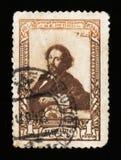 著名俄国画家的诞生的100th周年我 Repin,大约1944年 免版税库存照片