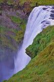 著名冰岛瀑布在南冰岛 库存图片