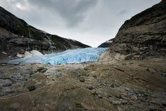 著名冰川在斯堪的那维亚 库存照片