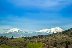 著名前面范围山在科罗拉多斯普林斯,科罗拉多 库存照片