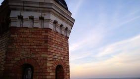 著名千年塔在泽蒙在贝尔格莱德塞尔维亚 免版税库存照片