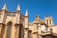 著名卡塔龙尼亚的大教堂多数一个安置省西班牙塔拉贡纳 天主教会在卡塔龙尼亚,西班牙 免版税库存照片