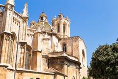 著名卡塔龙尼亚的大教堂多数一个安置省西班牙塔拉贡纳 图库摄影