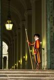 著名卫兵瑞士梵蒂冈 免版税库存照片