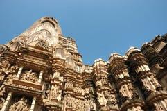 著名印度kamasutra爱情戏寺庙 库存照片