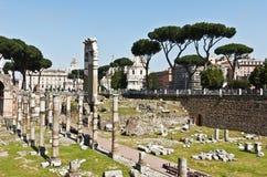 著名古老罗马广场,罗马,意大利 库存图片
