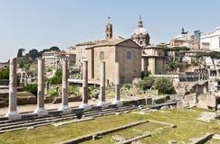 著名古老罗马广场,罗马,意大利 免版税库存照片