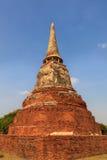 著名古老破庙在泰国 库存照片
